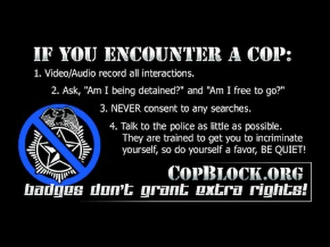 Racist, Dumb Officers Get OWNED By Ex-Cop (COP BLOCK) KNOW YOUR RIGHTS!