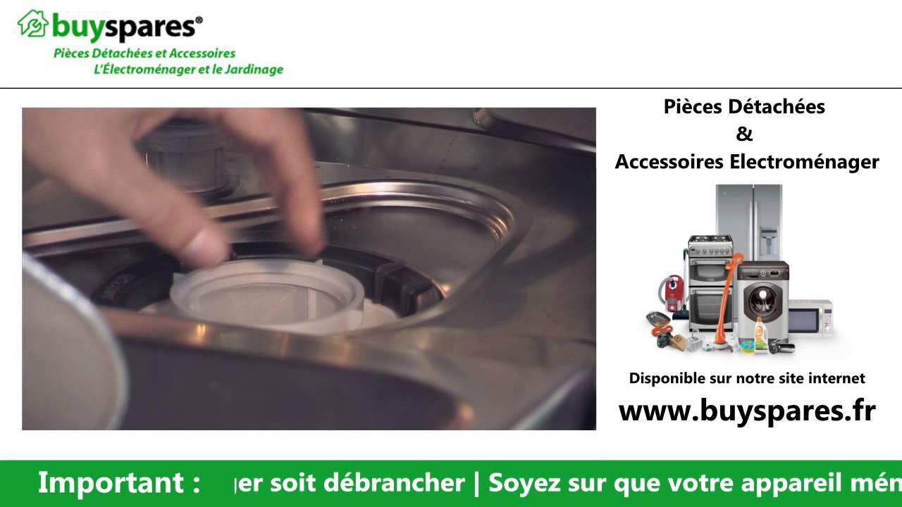 Comment enlever les filtres d 39 un lave vaisselle youtube - Comment nettoyer un lave vaisselle ...
