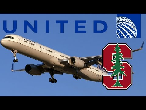 "HD RARE United Airlines 757-324 N75851 ""Stanford Charter"" Landing at San Jose International Airport"