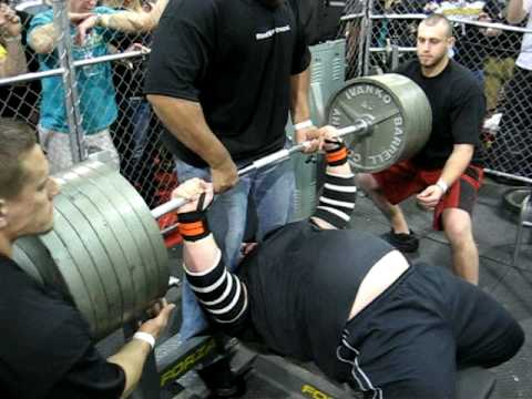Nick Winters Benching 700lbs For 2 Reps In The Animal Cage