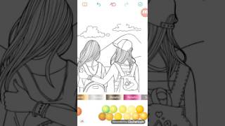 Two best friends drawing