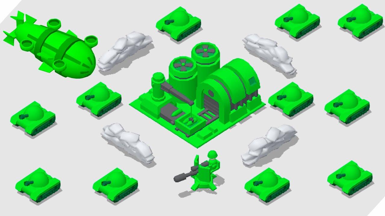 МОЯ ПУШКА КРУЧЕ! Игрушечная армия! Toy Army Draw Defense