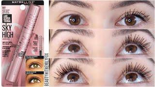 Download Maybelline Lash Sensational Sky high Mascara || Review & 12h Wear Test