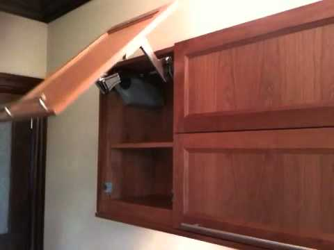 Motorized cabinet door & Motorized cabinet door - YouTube