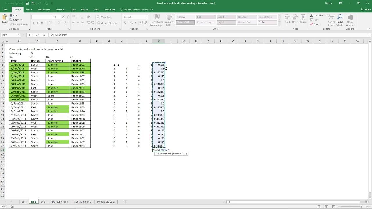 Count unique distinct values meeting criteria [Array Formula