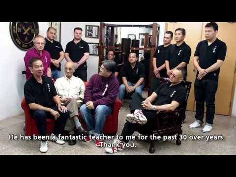 Wing Chun, Ip Man, Chow Tse Chuen: Wooden Dummy and Kicking Techniques Demonstration - May 2013 -
