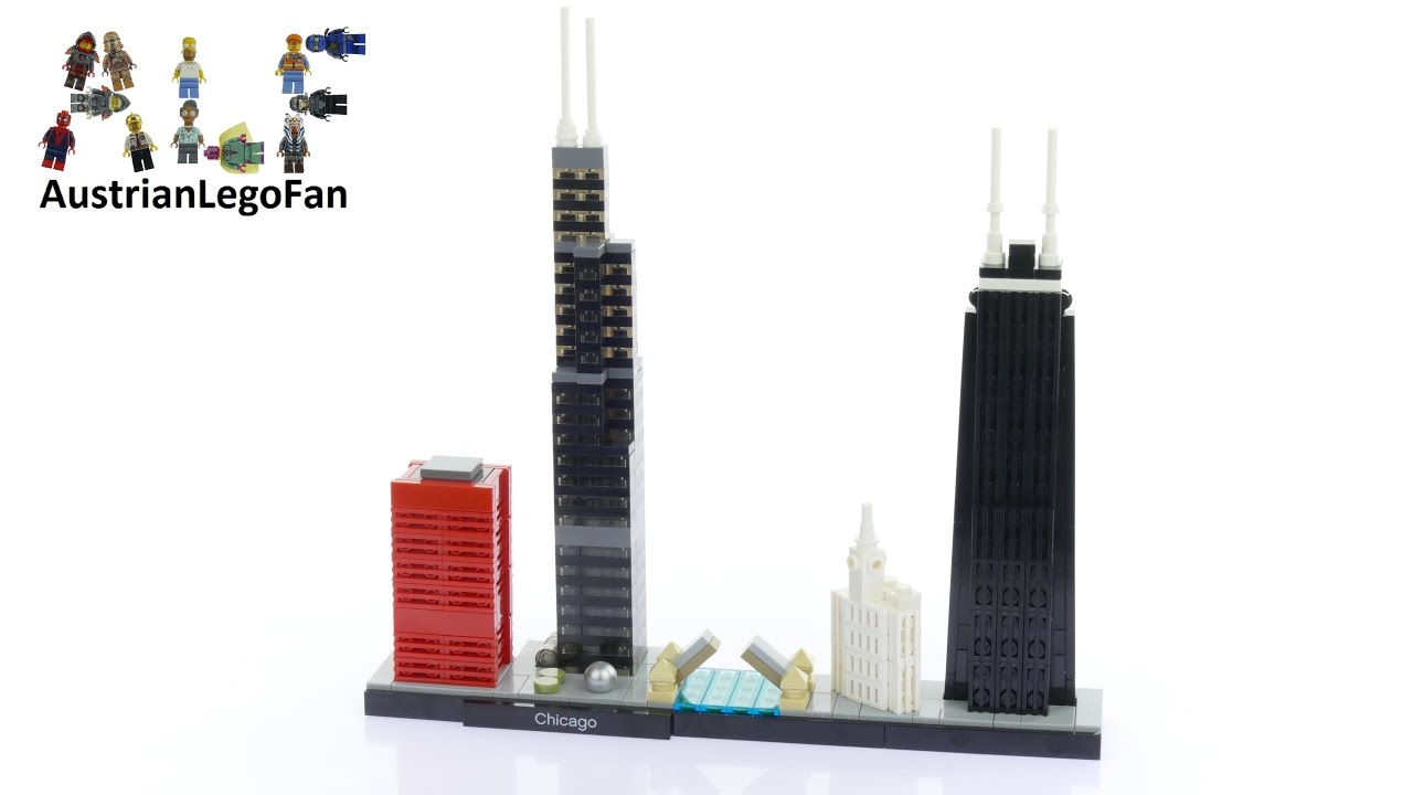 Lego architecture 21033 chicago lego speed build review for Video architecture
