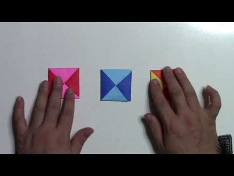 【折り紙 折り方】簡単なメンコ(コースター)