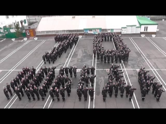 Флешмоб осуждённых ИК-7 Омск 9 мая 2015