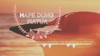 Marrokap Dung Matua - Lirik