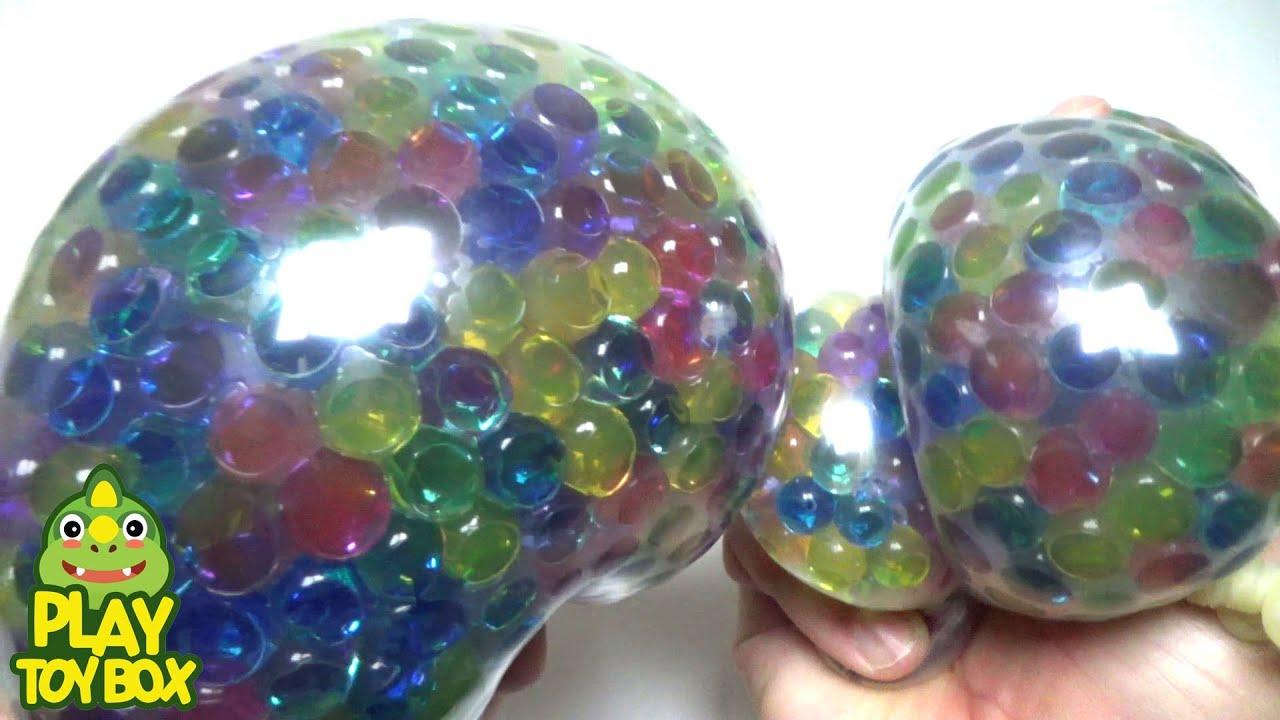 Orbeez Crush Stress Ball Balloon Pop Baby Doll Bath Youtube