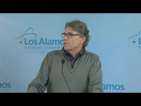 US Energy Secretary Rick Perry visits Los Alamos National Lab