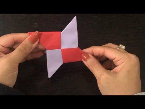 DIY How to make a paper ninja star/origami star/shuriken
