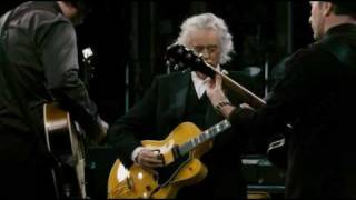 Jimmy Page,Jack White and The Edge playing ,,In my time of dying""