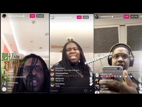 Chief Keef calls Lil Durk and Young Chop on INSTAGRAM LIVE