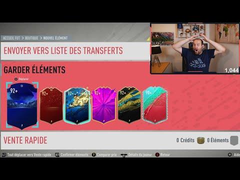 6 JOUEURS 92+  EN SEULEMENT 2 PACKS ! TOUS MES PACKS DE LA SEMAINE ! FIFA 20