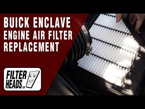 How to Replace Engine Air Filter 2012 Buick Enclave V6 3.6L