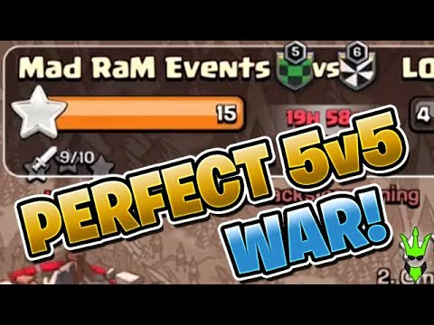 PERFECT SOLO WAR! - 5v5 Friday! - Live Perfect War Attacks - Clash of Clans