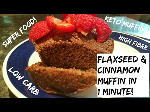 My Superfood Flaxseed & Cinnamon Muffin made in 60 seconds | Low Carb | Keto Dessert | High Omega 3s