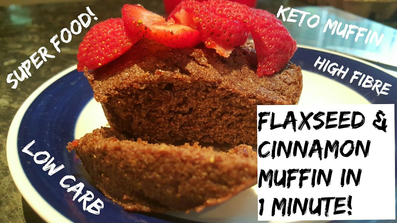 Keto Cake Recipe Australia: My Superfood Flaxseed & Cinnamon Muffin Made In 60 Seconds