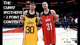 THE CURRY BROTHERS BATTLE - 3 Point Contest 2019 - Hey Brother