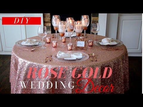 rose-gold-wedding-decor- -diy-wedding-decor