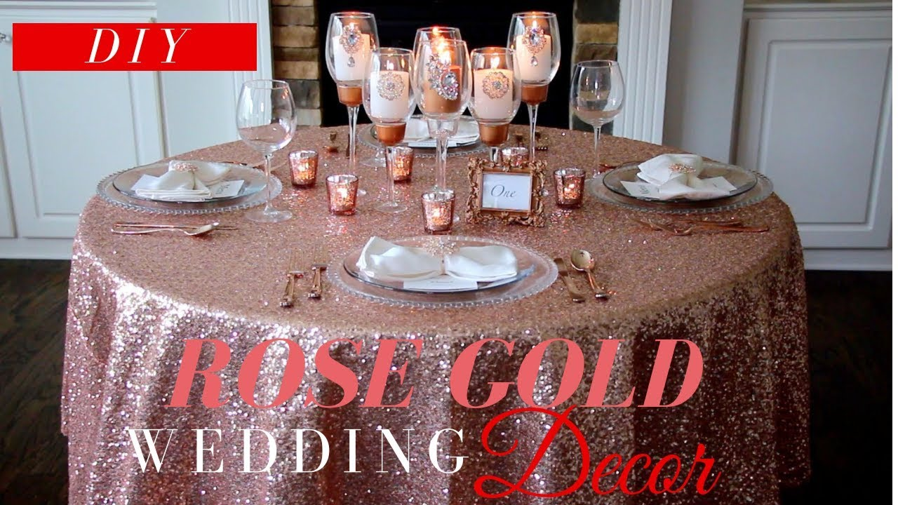 Rose Gold Wedding Decor