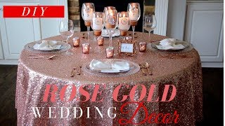 DIY Wedding Decor | Rose Gold Wedding Decor | Flowerless Wedding Centerpiece