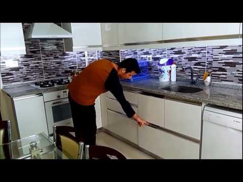 Akrilik Mutfak Dolabi Led Aydinlatmali Youtube