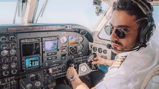 VOLÉ UN AVIÓN PRIVADO DESDE MÉXICO A USA😱 (Un día siendo piloto)