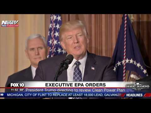 WATCH: President Trump Signs Executive EPA Orders (FNN)