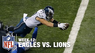 Brent Celek Breaks Free & Reaches for a Goal Line TD | Eagles vs. Lions | NFL