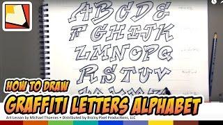 How to Draw Graffiti Letters Alphabet - Hand Lettering - Art for Kids | BP
