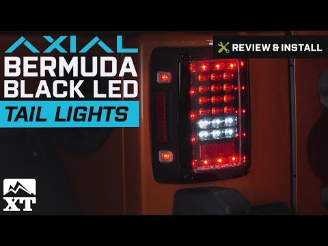Jeep Wrangler Axial Bermuda Black LED Tail Lights (2007-2018 JK) Review & Install