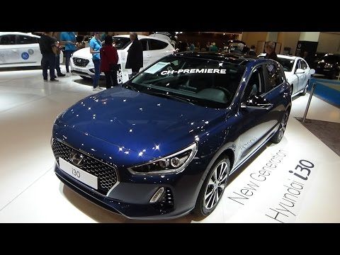 2017 Hyundai i30 Vertex 1.4 T GDi - Exterior and Interior - Zürich Car Show 2016