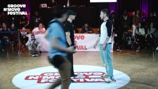 GROOVE'N'MOVE BATTLE 2017 - Popping Semi - Final / PoppinC vs Julien