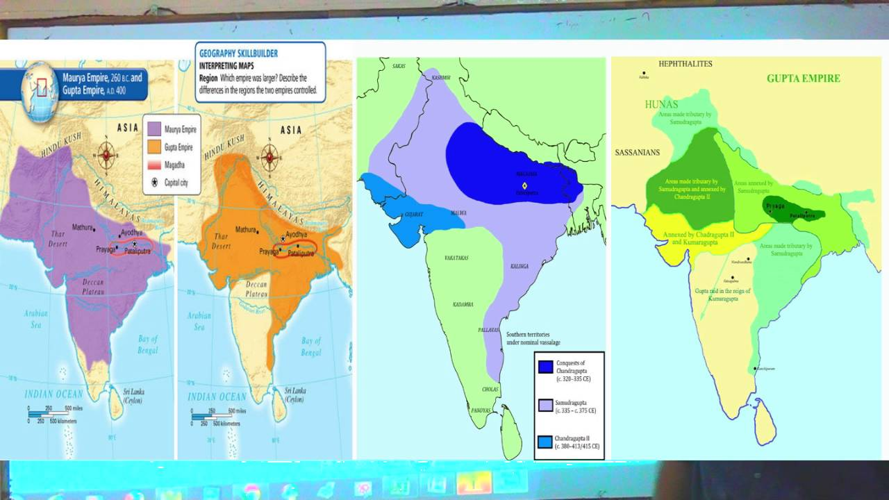mauryan and gupta The mauryan empire (c325-200 bce) as we have seen, various factors such as climate, topography, and disease made india very difficult to unify.