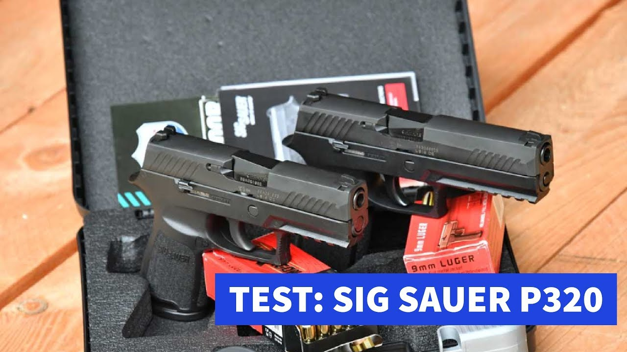 SIG Sauer P320 service pistol, review and video showcase