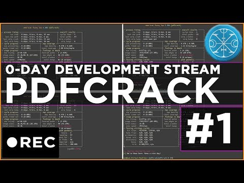 Stream Recording: pdfcrack 0-day hunting with AFL #1