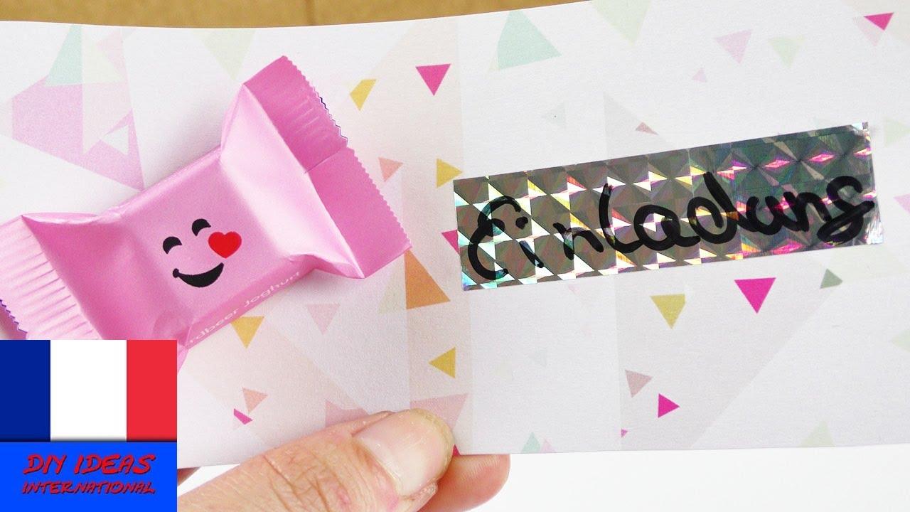 jolie carte d invitation invitation a une fete avec un extra choco idee anniversaire