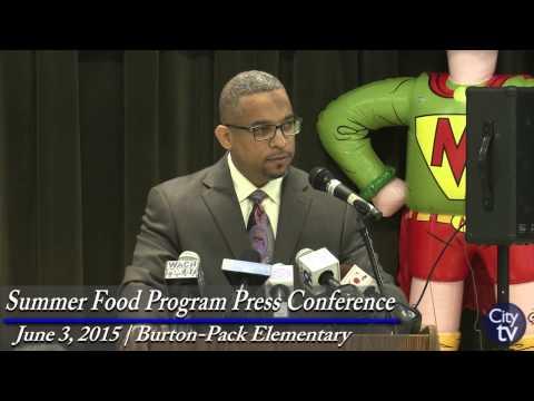 Summer Food Program Press Conference: June 3, 2015