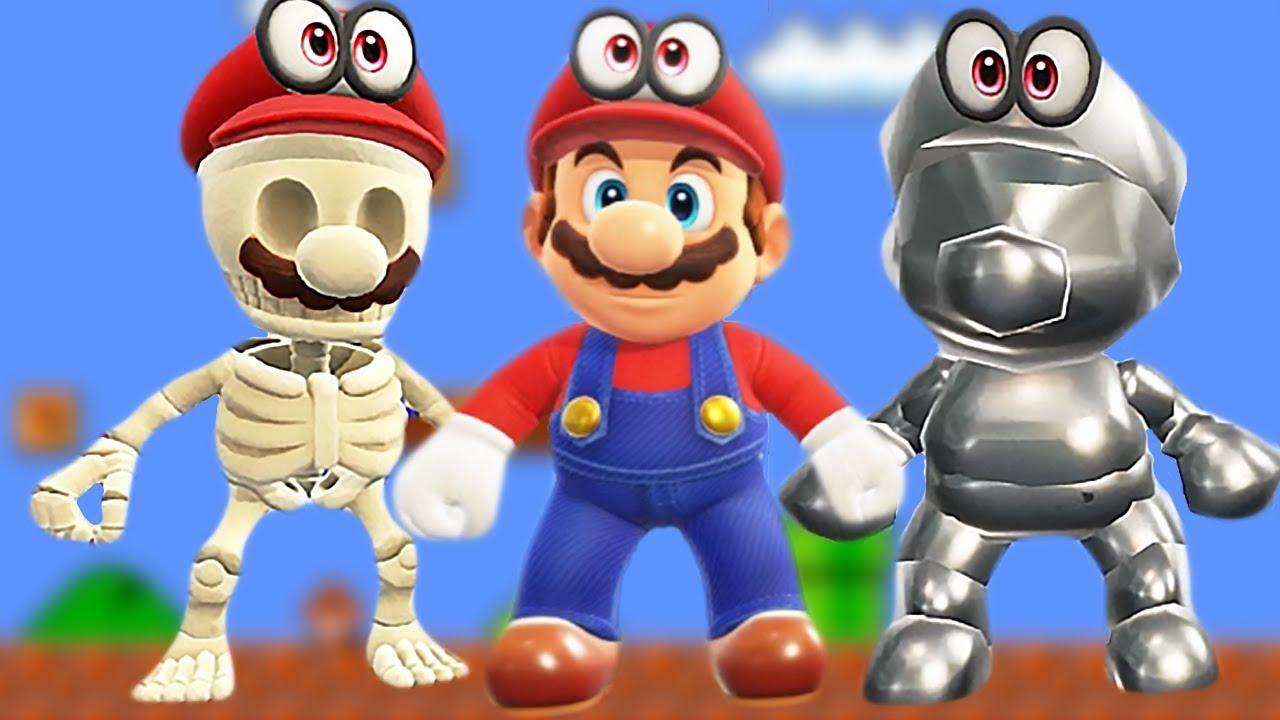 All Costumes In Super Mario Odyssey Unlocked Golden Mario Metal