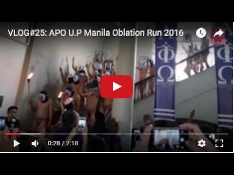 VLOG#25: APO U.P Manila Oblation Run 2016