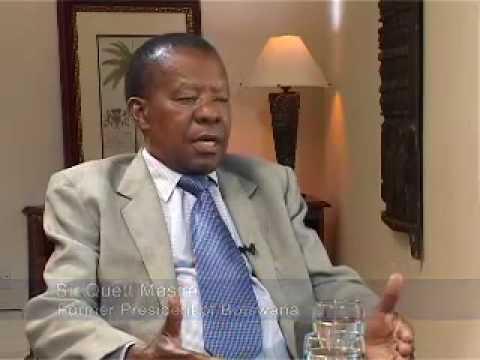 Sir Quett Masire (2), Ex-President of Botswana