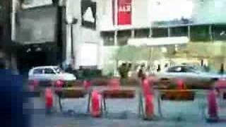 表参道からH&M原宿店建設予定地へ