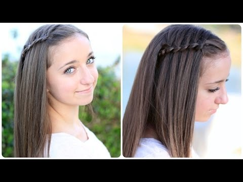 Pancaked 4-Strand Waterfall Braid Cute Hairstyles - YouTube