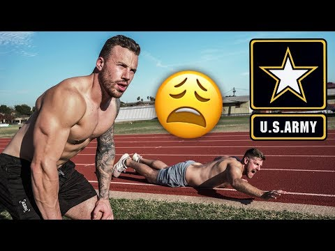 Attempting the US ARMY Fitness Test || without practice