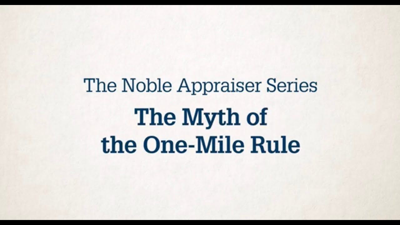 The Myth of the One - Mile Rule