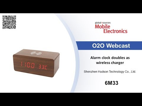 Alarm clock doubles as wireless charger – Mobile Electronics show