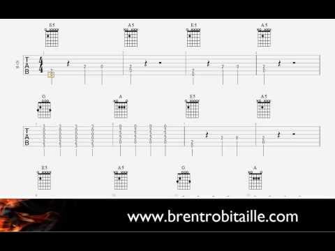 Guitar Tab - Easy Guitar - Luke Bryan - That's My Kind Of Night - Simplified